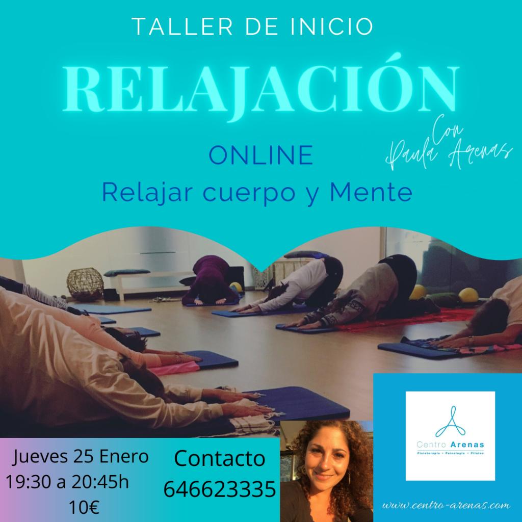TALLER DE RELAJACIÓN ONLINE
